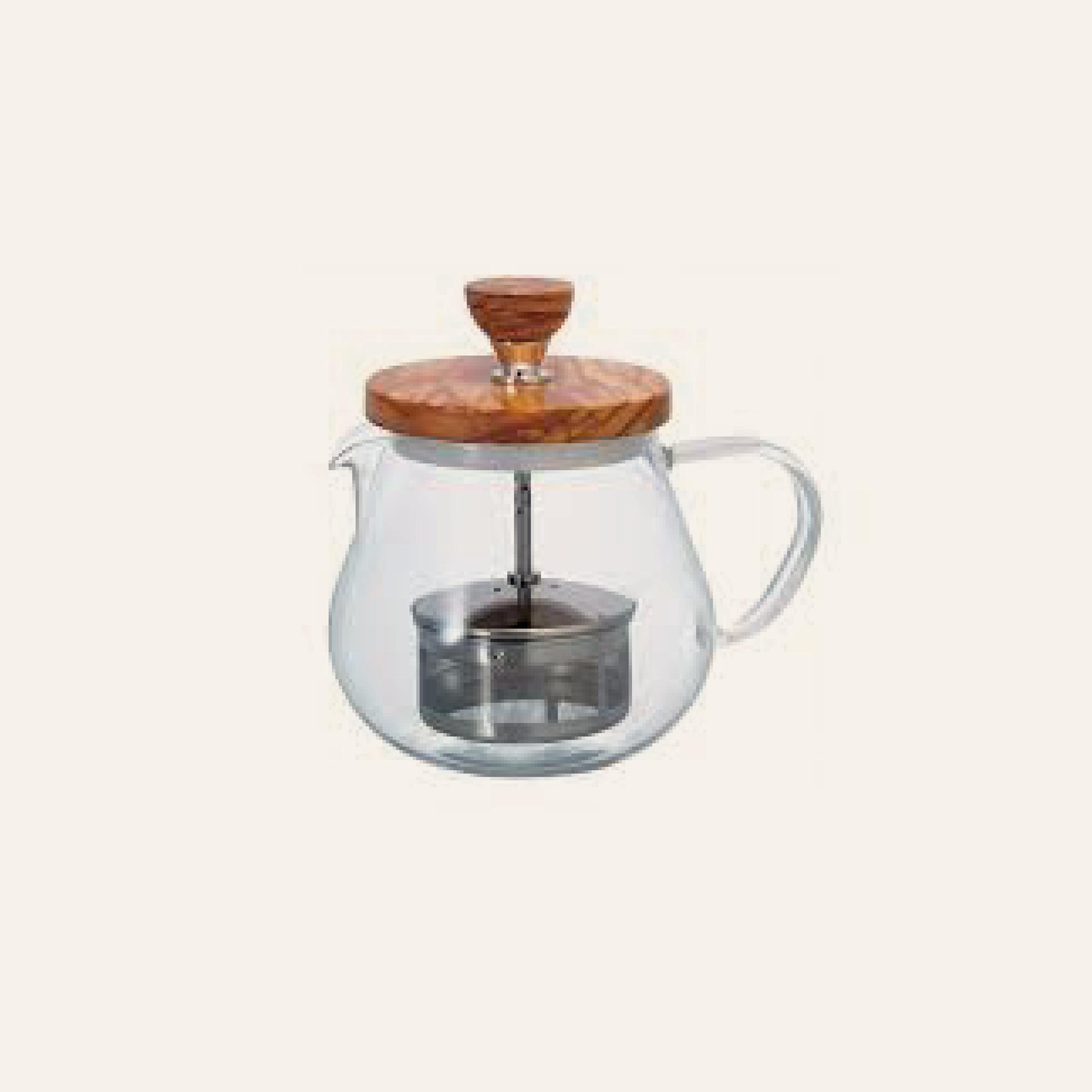 Hario Pull-UP Tea Maker Olive wood TEO-OV
