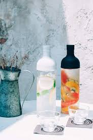 Hario FIHU-2012-PGR-EX Filter in Bottle & Tea Glass Set HU